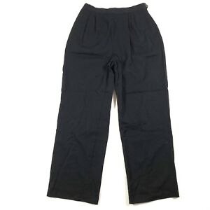 Murray s Toggery Shop Nantucket Island Womens 12 Wool Pants Black ... 2c7844a994