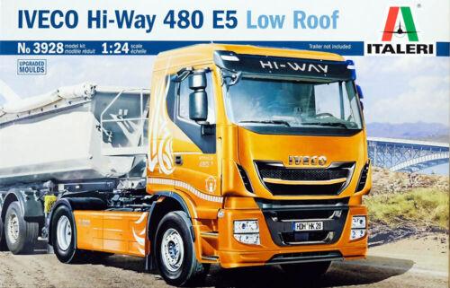 IVECO Hi-Way 480 E5 Low Roof Truck LKW 1:24 Model Kit Bausatz Italeri 3928