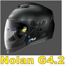 """CASCO NOLAN GREX G4.2 N-COM  EX N43E AIR NERO OPACO COL.2 Tg. """"M"""" BLACK FLAT"""