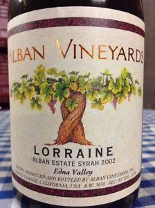 Alban Vineyards Lorraine Syrah Edna Valley 2002