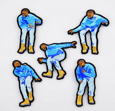 Drake Hotline Bling video hip-hop iron-on embroidery 5 patches set FREESHIPPING