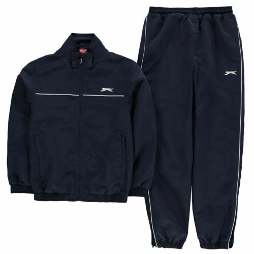 Slazenger Kids Boys Woven Suit Junior Tracksuit Zip Drawstring Sports