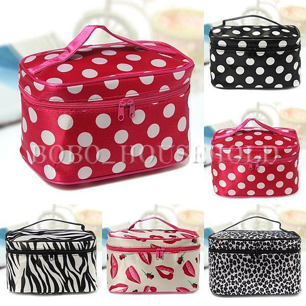 Women Cosmetic Makeup Bag Case Travel Toiletry Wash Holder Handbag Organizer