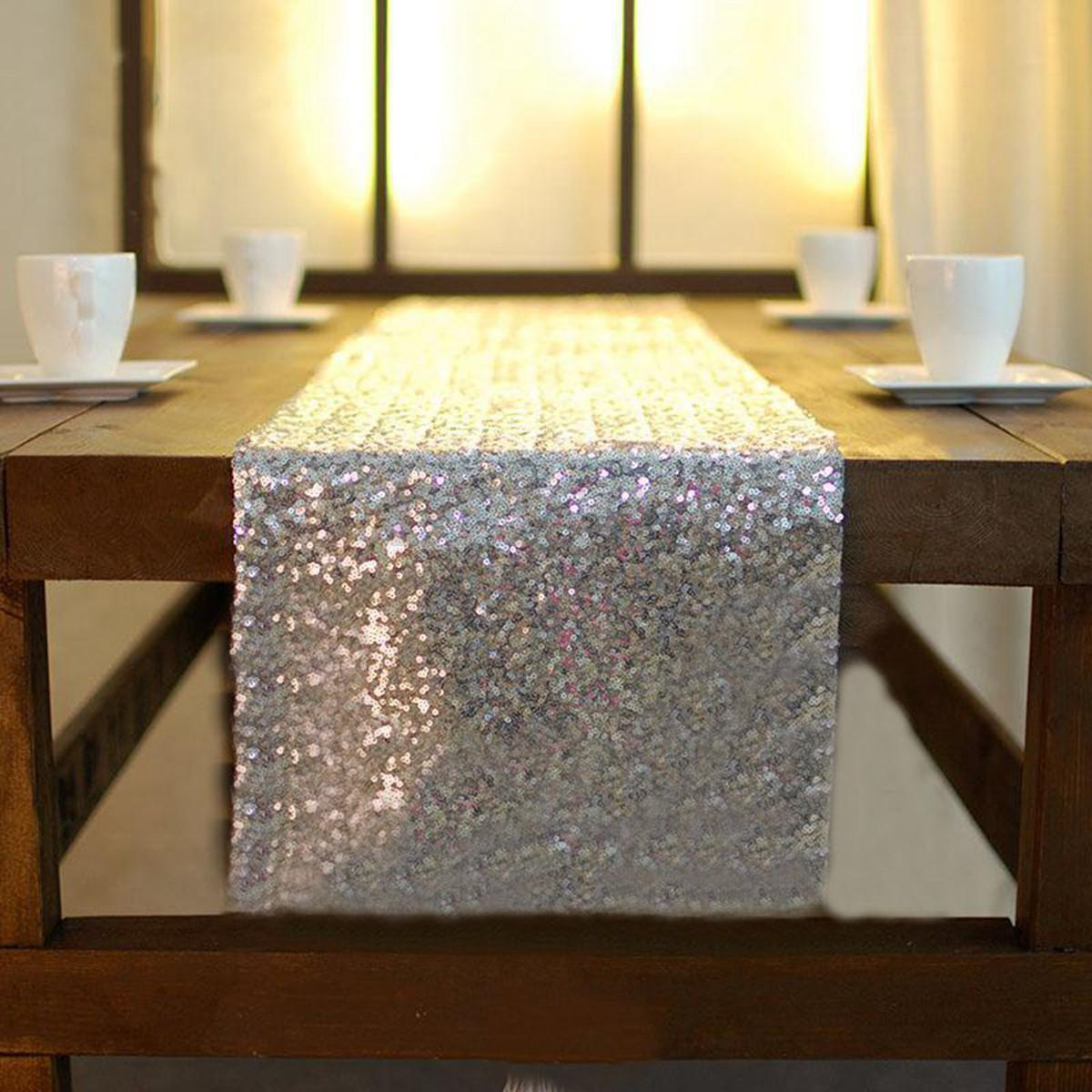 international table decor 12 x118 gold sequin table runner wedding party