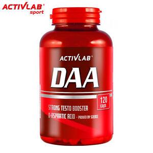 DAA-Supplement-120-Caps-D-Asparaginsaeure-Testosteron-Booster-Power-amp-Strength