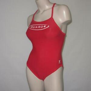TYR Lifeguard Diamondback Reversible Blue Red 1-Piece Sexy Bikini Swimsuit