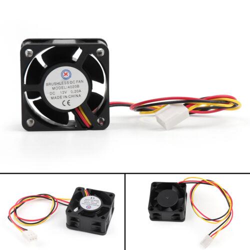 DC Brushless Cooling PC Computer Fan 12V 0.2A 4020B 40x40x20mm 3 Pin Wire Fan UA