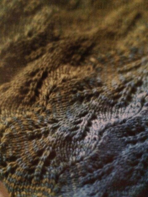 Cashsilk Fern Scarf Knitting Pattern
