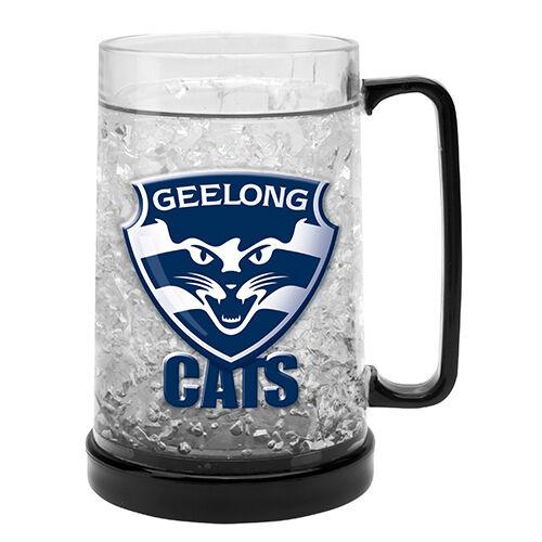 Geelong Cats AFL Gel Ezy Freeze Beer Stein Mug Cup Man Cave Bar Gift