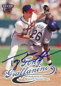 TONY GRAFFANINO ATLANTA BRAVES SIGNED CARD BOSTON RED SOX INDIANS CHICAGO WHITE