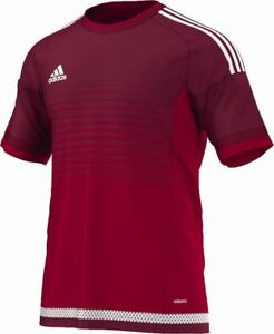 Adidas Football Youth Soccer Campeon 15 Jersey Boys Climacool Red ...