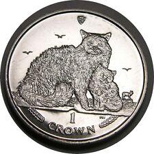 elf IOM Isle of Man 1 Crown 2015 Selkirk Cat Kitten