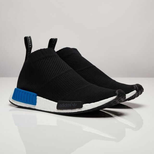 finest selection 17bae 89c00 S79152 Adidas Originals NMD CS1 City Sock Black White Blue PK Primeknit  Boost ds