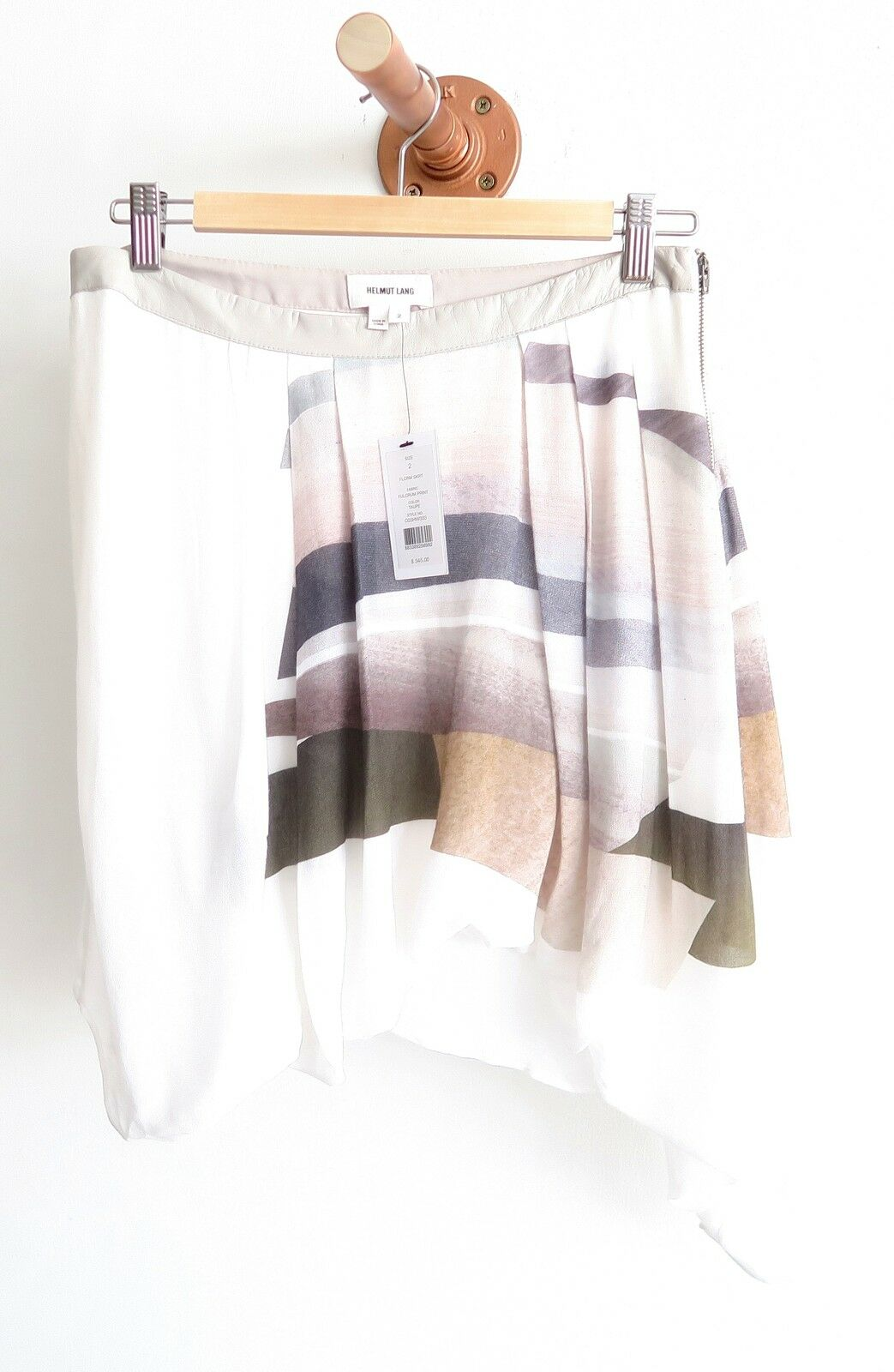 Helmut Lang Fulcrum Print Skirt NWT (345 )
