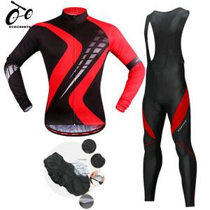 Spring-Men-039-s-Cycling-Jerseys-Bicycle-Long-Sleeve-Kit-Bike-Jersey-Bib-Pants-Sets