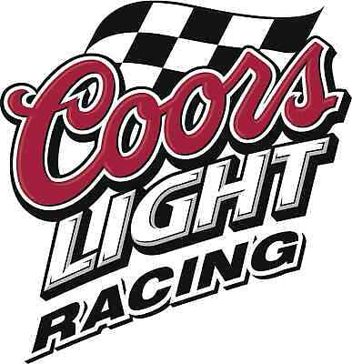 """COORS LIGHT Vinyl Sticker Decal 6/"""" RACING full color"""