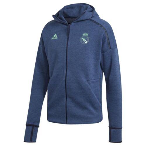 adidas Real Madrid CF Men/'s ZNE 3.0 Anthem Training Jacket Blue New