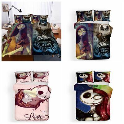 3D The Nightmare Before Christmas Jack Duvet Cover Bedding Set Pillowcase 3PCS