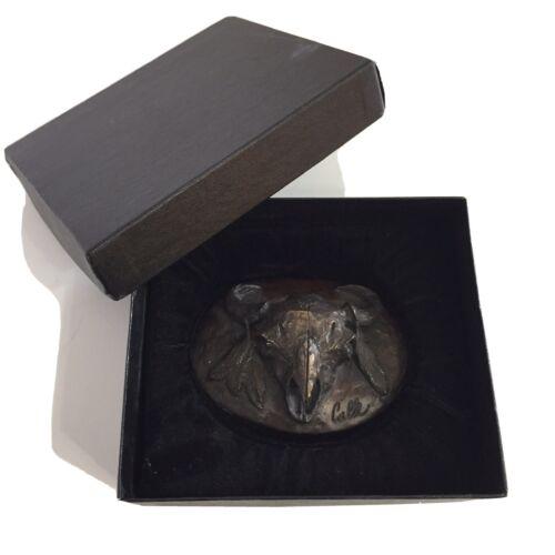 RARE Vtg Buffalo Bison Skull Feathers Indian Weste