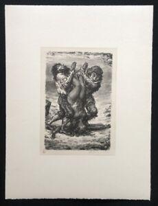 A. Paul Weber, bella cuoca, da cui SCONTO, litografia, 1969, signaturs