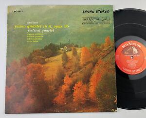 FESTIVAL QUARTET / Brahms Piano Quartet / RCA SD, LSC-2517  VINYL LP shaded dog