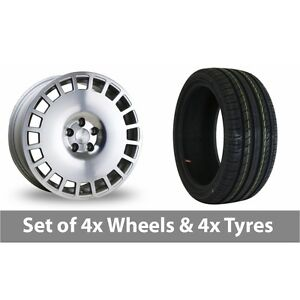 4-x-18-034-Bola-B12-Silver-Polished-Face-Alloy-Wheel-Rims-and-Tyres-235-45-18