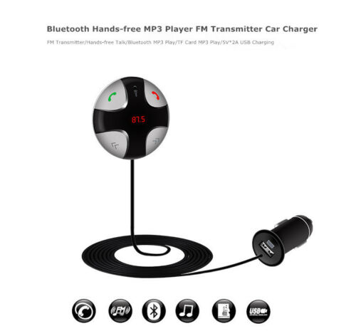 Bluetooth 4.0 Car FM Transmitter Wireless Radio Adapter USB Charger For iPhone 7