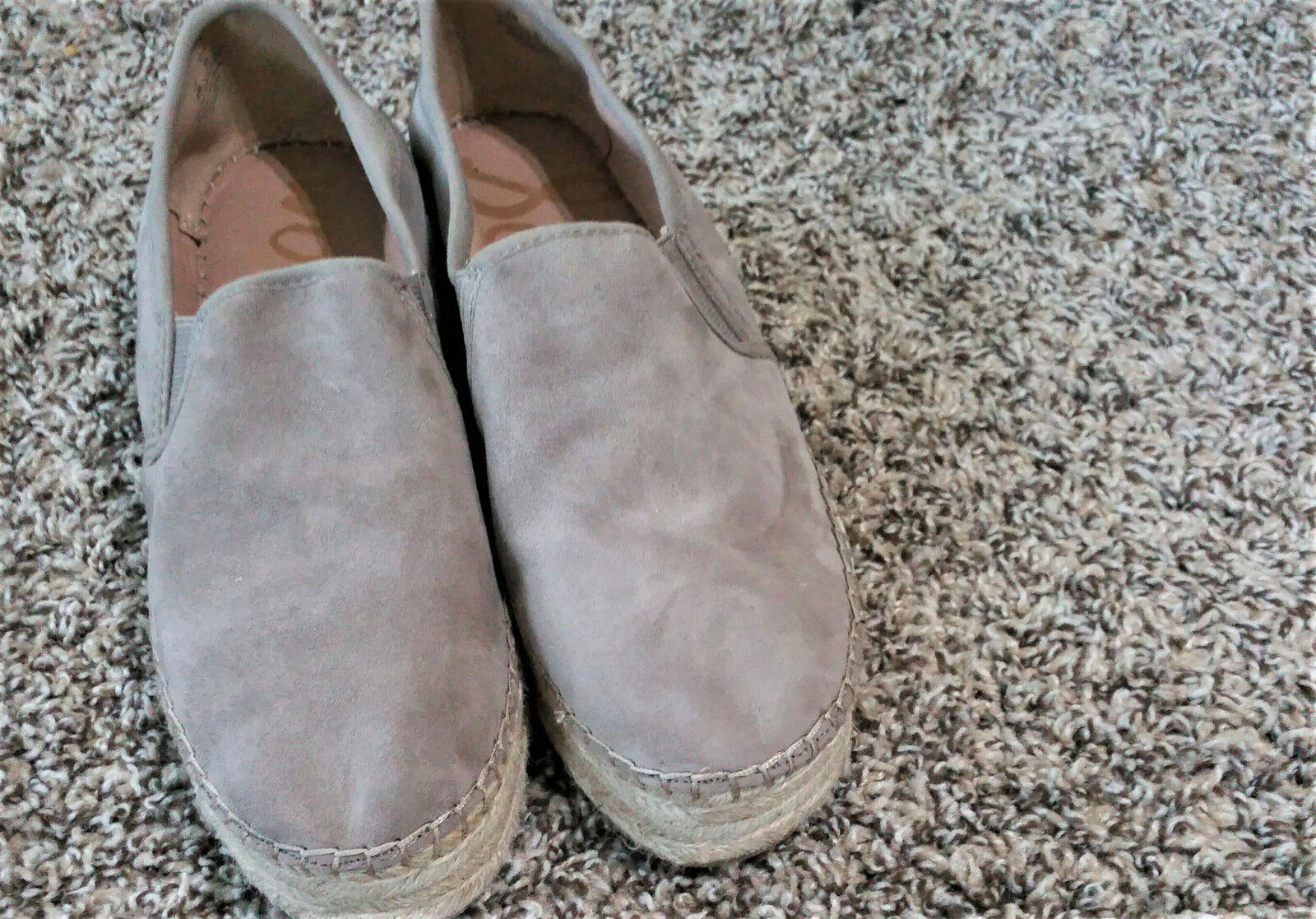 Sam Edelman Womens Carrin Platform Espadrille Slip-On Sneaker- Size 9