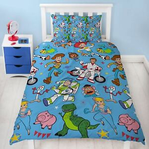 Details about TOY STORY 4 RESCUE SINGLE DUVET COVER SET ROTARY KIDS - 2 IN  1 DESIGN