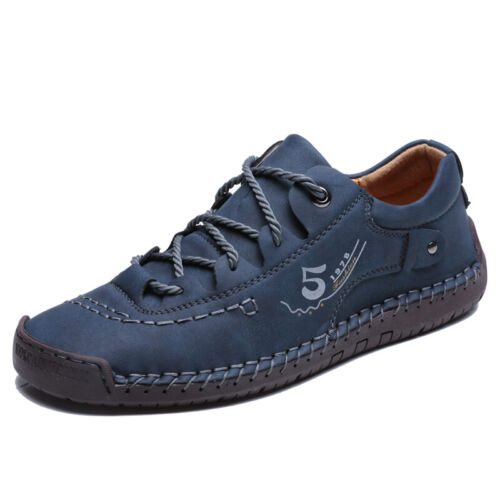 Mens Hiking Sneakers Outdoor Breathable Antiskid Leather Driving Shoes Moccasins