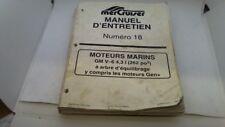 MANUEL TECHNIQUE ATELIER ENTRETIEN MERCURY MARINER 40 50 55 60  3cyl. 2 T 1998