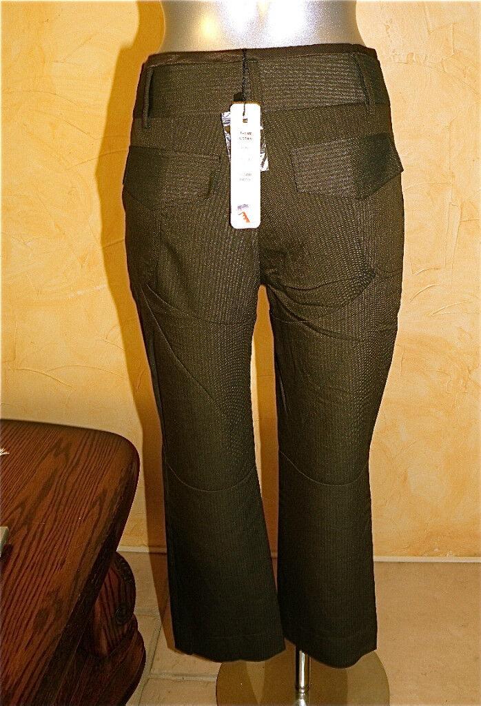 Pantalon pantacourt hiver chocolat LILIANE H taille 42 NEUF ÉTIQUETTE val.