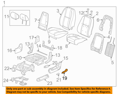 GM OEM Front Seat-Recline Handle Lever 15232594
