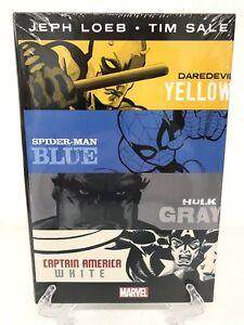 Loeb-amp-Sale-Yellow-Blue-Gray-amp-White-Omnibus-Hulk-Marvel-Comics-HC-New-Sealed