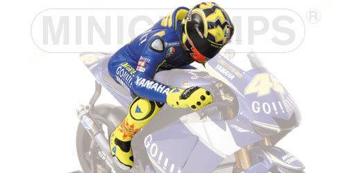 1 12 Minichamps Valentino Rossi Figure Figurine World Champion Moto GP 2005 NEW