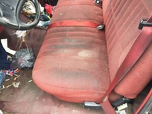 Excellent Details About 1992 1996 Ford F150 Pick Up Truck Front Bench Seat Maroon Cloth Manual Machost Co Dining Chair Design Ideas Machostcouk