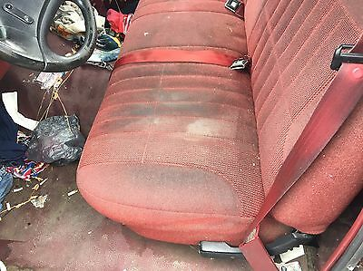 1992 1996 Ford F150 Pick Up Truck Front Bench Seat Maroon Cloth Manual Ebay
