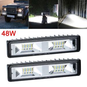 2pcs-48W-LED-Work-Light-Bar-Flood-Spot-Lights-Driving-Lamp-Offroad-Car-Truck-SUV