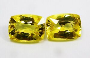 Natural-CERTIFIED-Cushion-Cut-10-Cts-Yellow-Sapphire-Loose-Gemstone