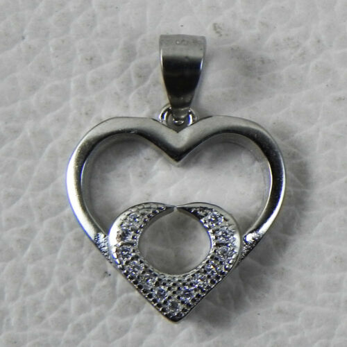 Details about  /Solid 925 Sterling Silver Cubic Zirconia Pendant Necklace Women PSV-1343