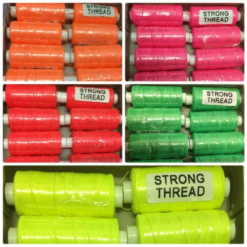 150 Metre Reels Strong Thread Florescent Colours