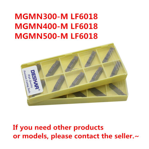 DESKAR MGMN500-M LF6018 CNC Grooving Carbide Inserts For Stainless steel 10Pcs