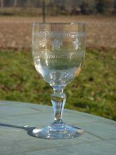 Thouvenin vierzon - Verre à côtes vénitiennes en verre gravé. Début Xxe s.