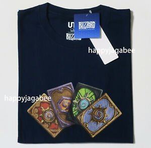 Details about UNIQLO 2019 Men BLIZZARD Graphic Tee HearthStone Cards Navy  NEW 42146300001