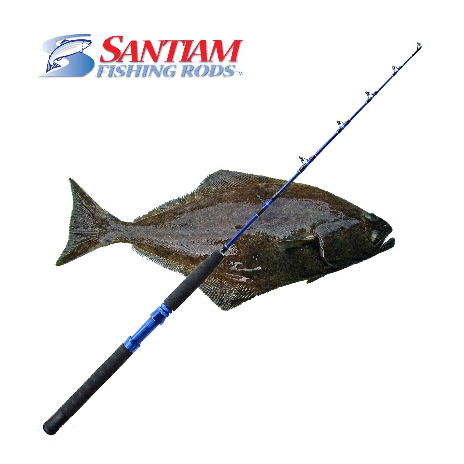 SANTIAM FISHING RODS 1 PC 48  30-130 LB HALIBUT TUNA ALASKAN TRAVEL SERIES