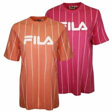 FILA Women's Bright Coloured Vertical Striped S/S T-Shirt