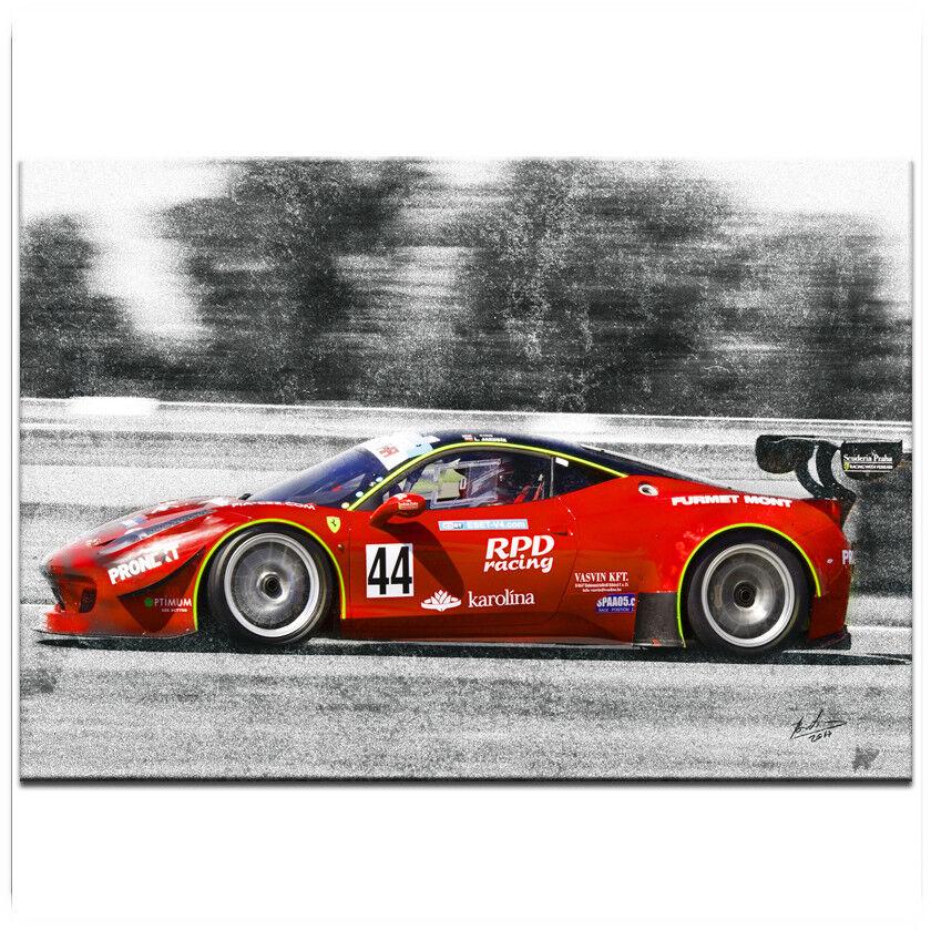 FERRARI AUTO Sportwagen Rennwagen Bild auf Leinwand Kunst Wandbild  XXL 793A