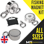Neodymium Strong Double Sided Fishing Magnet 200kg 400kg 600kg Pull 10//15m Rope