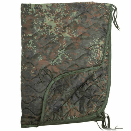 Mil-Tec US Army PONCHO LINER Travel Blanket 210 x 150 cm Flecktarn Camo