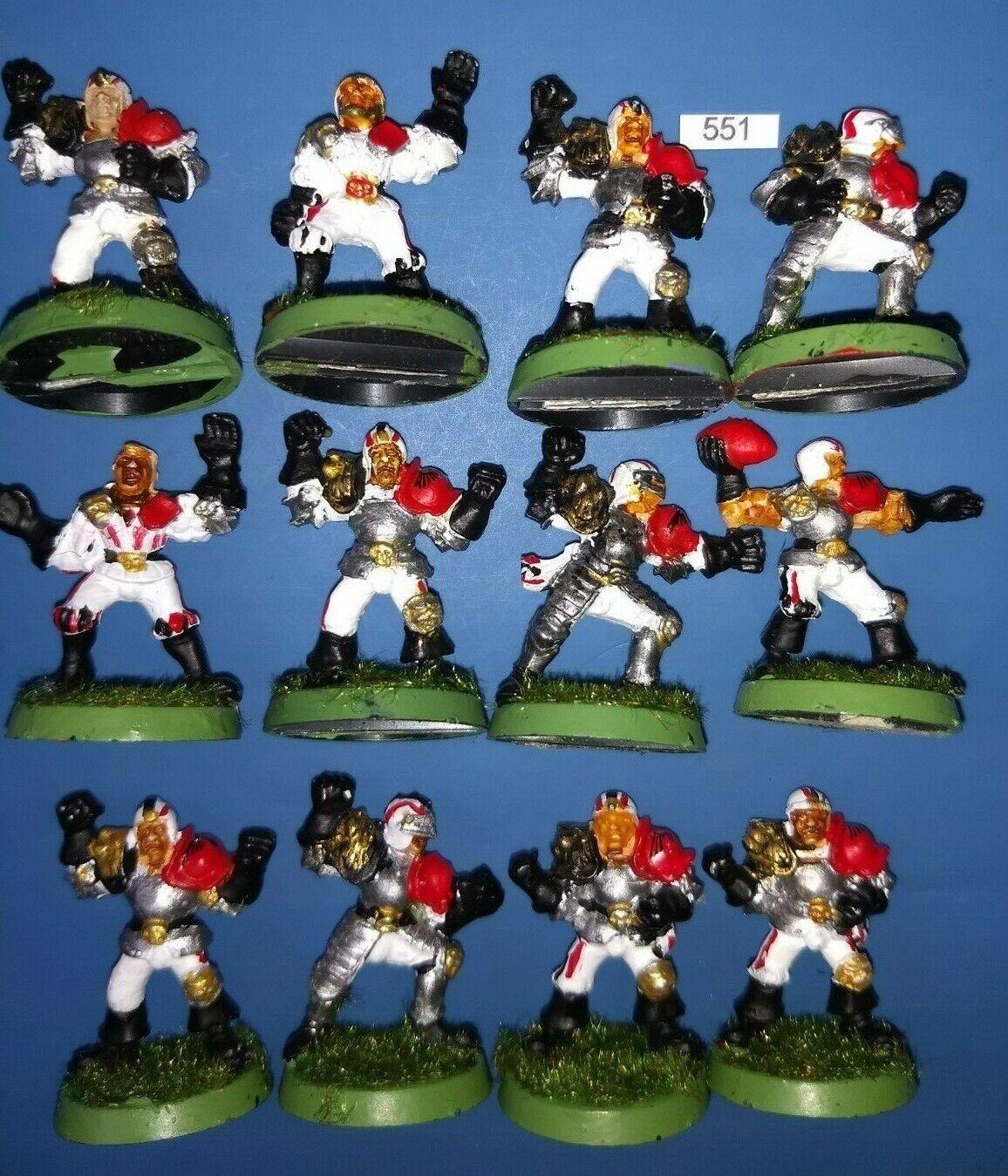 3rd Edición Metal equipo humano 12 jugadores Blood Bowl Fantasy Football warhammer